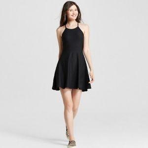 Lace Halter Neck Skater Dress